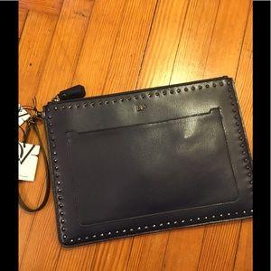Diane von Furstenberg NWT studded leather pouch